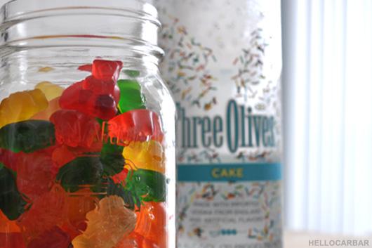 gummy bears and... vodka?