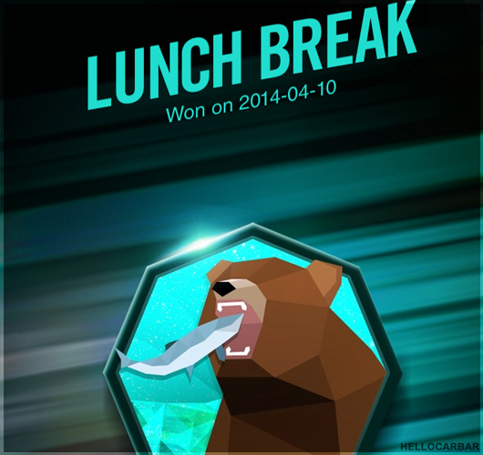 Nike Fuelband lunch time badge
